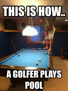 golfer-playing-pool